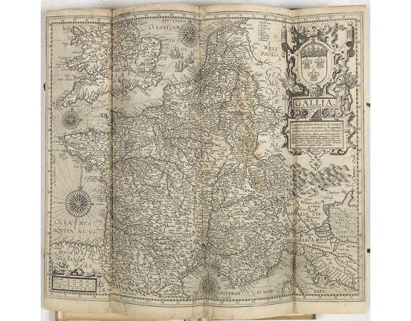 GALLE, Th. -  Composite atlas of the Low Countries with 18 double page maps by or after Hessel Gerriotsz. Theodor Galle, etc.