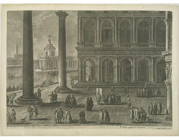 KILIAN, Christoph Gustav. -  Veduta della Piazza di S. Marco dall' Orologgio. / Veduta della Piazzetta. / Veduto della Piazza di S. Marco in Venezia.