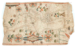Auction with Portulan chart