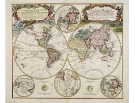 HOMANN Héritiers. -  Planiglobii Terrestris - Mappe-Monde.