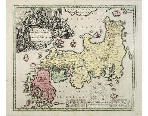 SEUTTER, M. -  Regni Japoniae Nova Mappa Geographica..