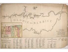 OTTENS, R. / J. -  Nieuwe...kaart van de colonie Berbice..