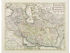 TIRION, I. -  Nieuwe kaart van 't Ryk van Persie.