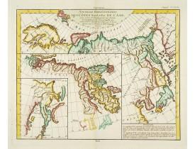 DIDEROT, D. -  Nouvelle representation des cotes nord et est de l'Asie..