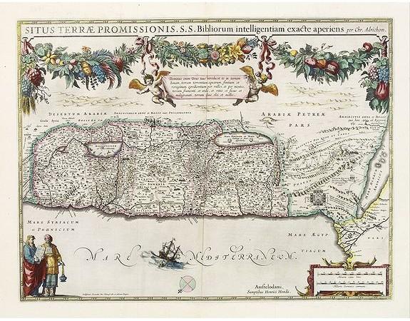 HONDIUS, H. -  Situs Terrae Promissionis.S.S.Bibliorum intelligentiam..