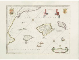 BLAEU, W. -  Insulae Balearides et Pytiusae.