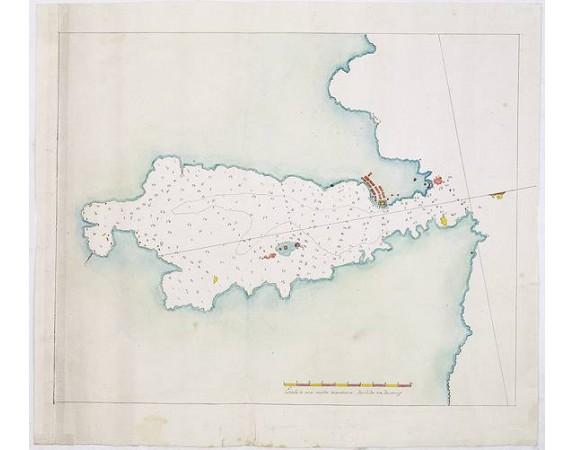 ANONYME. -  Plan manuscrit du port de La Havane.