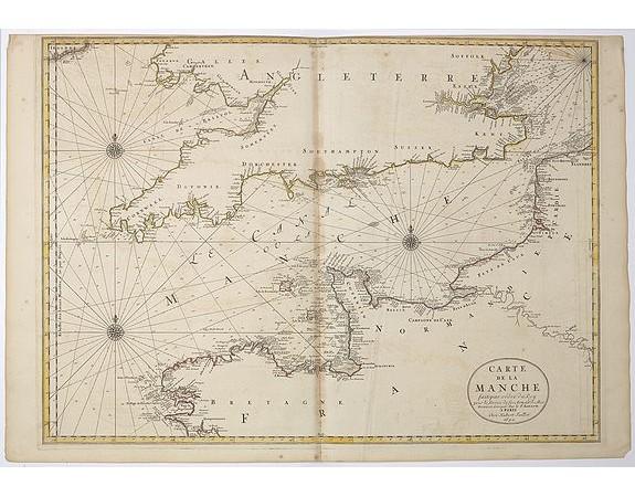 JAILLOT, H. / MORTIER, P. - Carte de la Manche.