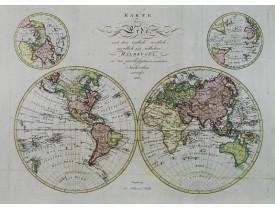 WALCH, J. -  Karte der Erde..