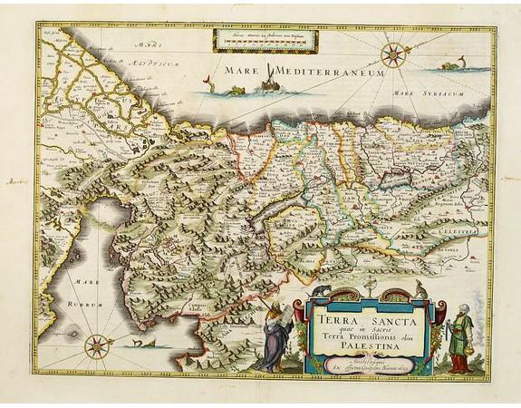 BLAEU, W. -  Terra Sancta quae in Sacris Terra Promissionis..