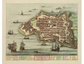 BLAEU, J. / MORTIER, P. -  Valletta ou Valete ville Forte, de l'Isle de Malta.
