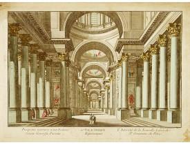 DAUMONT. -  L'Interieur de la Nouvelle Eglise de Ste. Genevieve de Paris.