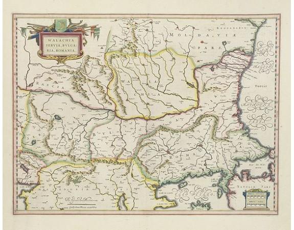 BLAEU, W. -  Walachia, Servia, Bulgaria, Romania.