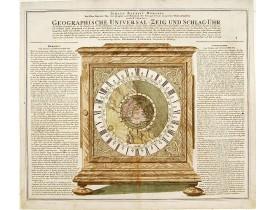 HOMANN, J. B. -  Geographische Universal-Zeig und Slag-Uhr.
