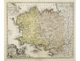 HOMANN, J. B. -  Tabula Ducatus Britanniae Gallis le Gouvernement de Bretagne…