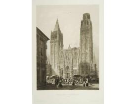 CHAPUY. -  Portail de la cathédrale de Rouen.