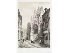 CHAPUY. -  Portail de l'église St. Maclou à Rouen.