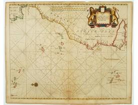 GOOS, A. -  De cust van Barbaria Gualata, Arguyn, en Geneheo, van Capo S Vincente tot Capo Verde.