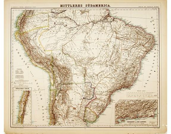 KIEPERT, H. -  Mittleres Südamerica.