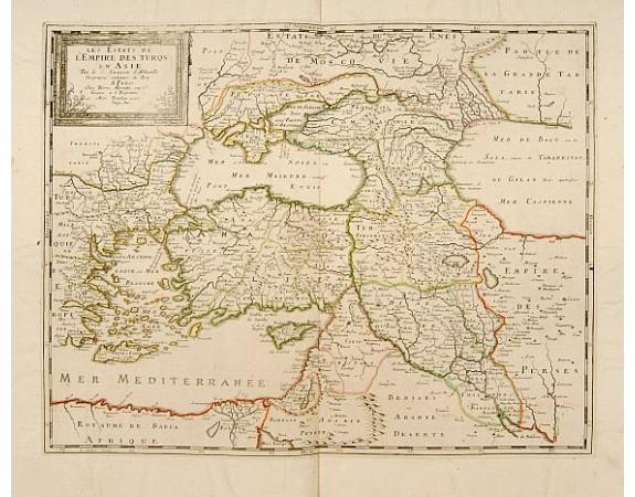 SANSON, N. / MARRIET, P. -  Les Estats de l'Empire des Turqs en Asie.