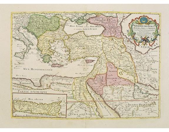 DU VAL, P. - L'Empire des Turcs en Europe, en Asie et en Afrique.