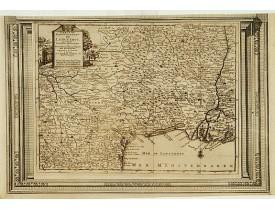 AA, P. van der. -  Carte du Gouvernement de Languedoc, suivant les nouvelles observations. . .
