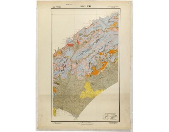 FALLOT, P. -  Carte Géologique de la Sierra de Majorque. Soller.