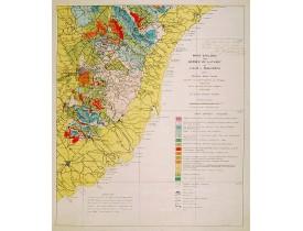 DARDER PERICAS, Bartomeu. -  Mapa geologic de les serres de Llevant de l'illa de Mallorca.