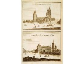MERIAN, M. -  L'Abbaye S: Germain de Prez… & Maison de l'Abb: S: Germain des Prez.