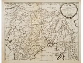 ROSSI, G. G. -  L' India di qua e di la dal Gange oue sono li Stati del G. Mogol e parte del Imperio del fu prete Iann..
