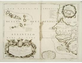 CORONELLI, V. M. -  Bocche del Fiume Negro et Isole di Capo Verde.