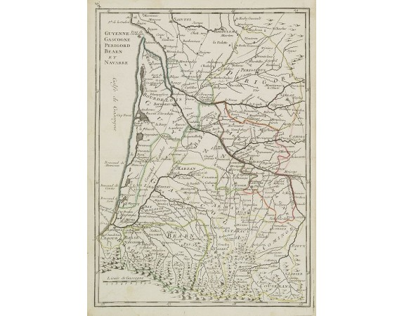 LE ROUGE, G. L. -  Guyenne, Gascogne, Perigord, Bearn et Navarre.