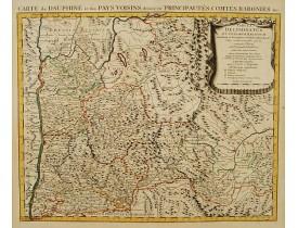 COVENS, J. / MORTIER, C. -  Tabula Delphinatus et vicinarum regionum../ Carte de Dauphiné…