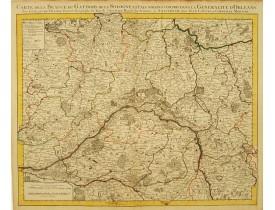 COVENS, J. / MORTIER, C. - Carte de la Beauce du Gatinois de la Sologne et Pays Voisins..