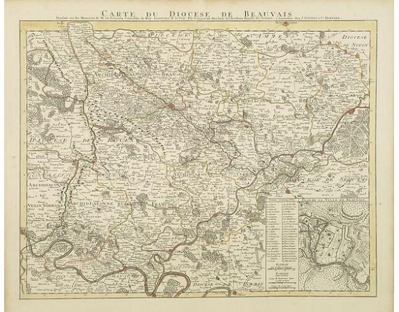 COVENS, J. / MORTIER, C. -  Carte du Diocese de Beauvais Dressée ..
