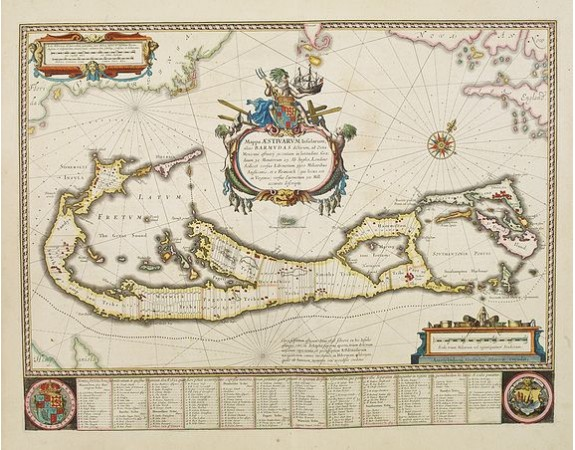 BLAEU, W. -  Mappa Aestivarum Insularum alias Barmudas.