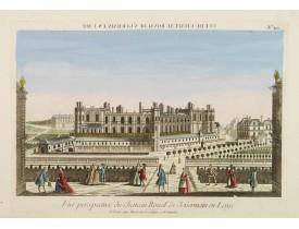 BASSET. -  Vue perspective du Château Royal de S. Germain en Laye.