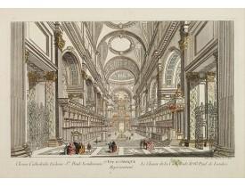 DAUMONT. -  6e Vüe d'Optique Représentant Le Chœur de la Cathedrale de St. Paul de Londres.