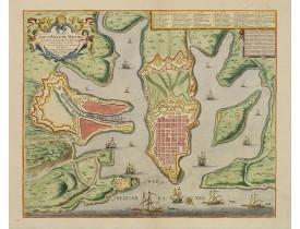 DE FER,N. / DANET. -  Plan de la ville de Malthe ses Forts, ses Nouvelles Fortiffications..