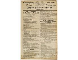 PERTHES, J. -  Geographische Wercke aus dem Verlag von Justus Perthes in Gotha. Januar 1852.