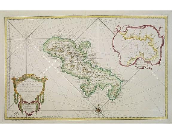 BELLIN, J.N. -  Carte réduite de l'Isle de la Martinique. . . N° 79.