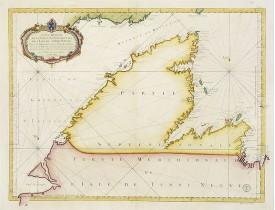 BELLIN, J.N. -  Carte Réduite De La Partie Septentrionale De L' Isle De Terre Neuve..