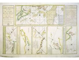 DÉPÔT GÉNÉRAL DE LA MARINE. -  Carte Réduite, Des Côtes De L' Acadie, De L' Isle Royale.. Et de la Partie Méridionale De L' Isle De Terre Neuve..