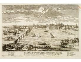 AVELINE, P. / CREPY. -  Nantes, ancienement Corbilo, Condiuineum et Namnetes, ville Capitale du pays Nantois et la plus considérable de la Bretagne..