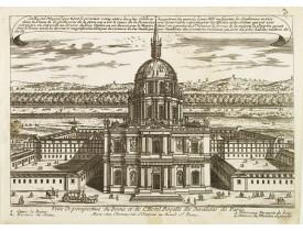 CHÉREAU, J. -  Veüe Et perspective du Dome et de L'Hotel Royalle des Invalides de Paris.