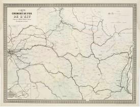 NAPOLÉON CHAIX. -  Carte des Chemins de Fer de l'Est.