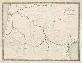 NAPOLÉON CHAIX. -  Carte des Chemins de Fer du Midi.
