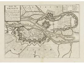PUTHAUX. -  Plan de Brisach Assiegé par l'Armée du Roi, commandée par Mgr. Le Duc de Bourgogne..