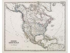 PERTHES, J. / STIELER. -  Nord-America. Entworfen u. gezeichnet von F. von Stülpnagel.