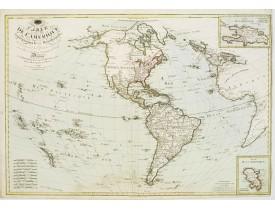 BASSET. -  Carte de L'Amérique Septentrionale et Méridionale ou se trouvent les Découvertes les plus nouvelles..